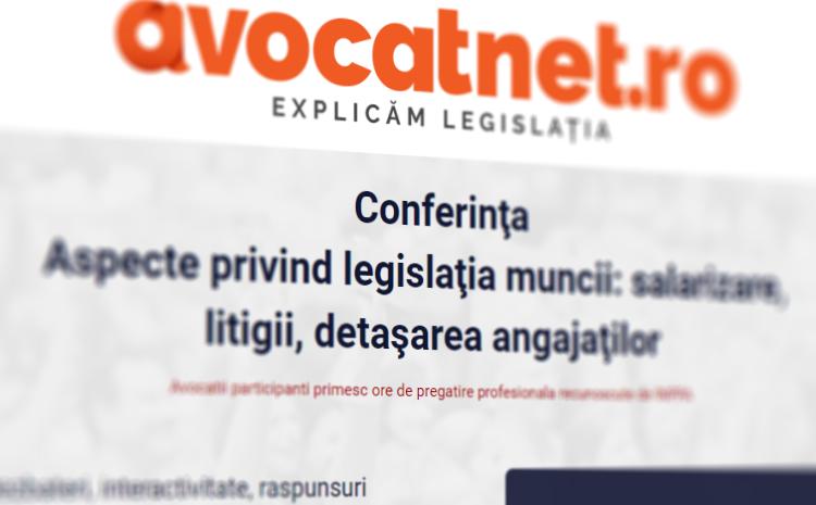 charisma hcm sustine conferinta aspecte privind legislatia muncii salarizare litigii detasarea angajatilor